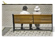 Two People Seated On A Bench Carry-all Pouch