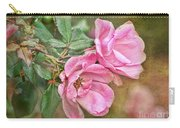 Two Pink Roses I  Blank Greeting Card Carry-all Pouch