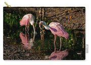 Two Pink Spoonbills Carry-all Pouch