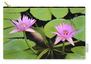Two Pink Water Lilies Carry-all Pouch