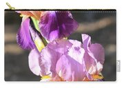 Two Purple Irises Carry-all Pouch
