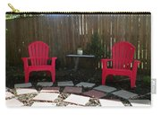 Two Red Chairs Carry-all Pouch