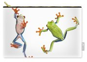 Two Red Eyed Tree Frogs Carry-all Pouch