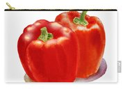 Two Red Peppers Carry-all Pouch