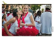 Two Red Tutus At Running Of The Bulls Carry-all Pouch