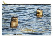 Two River Otters Carry-all Pouch