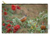 Two Robins Eating Berries Carry-all Pouch