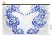 Two Seahorses- Blue Carry-all Pouch