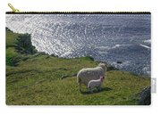 Two Sheep On The Cliffs At Sleive League - Donegal Ireland Carry-all Pouch