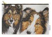 Two Shelties Carry-all Pouch