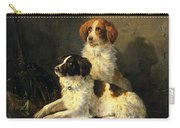 Two Spaniels Waiting For The Hunt Carry-all Pouch by Henriette Ronner Knip