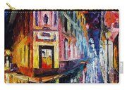 Two Streets - Palette Knife Oil Painting On Canvas By Leonid Afremov Carry-all Pouch