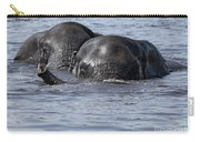 Two Swimming Elephants Carry-all Pouch