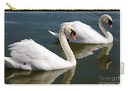 Two Swimming Swans Carry-all Pouch