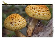 Two Toadstool Chums On A Log Carry-all Pouch