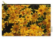 Two Toned Yellow Blooms Carry-all Pouch