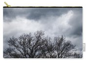 Two Trees Beneath A Dark Cloudy Sky Carry-all Pouch