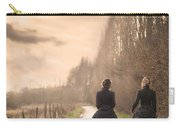 Two Victorian Ladies Walking On A Cobbled Path Carry-all Pouch