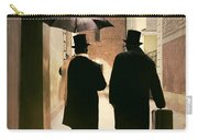 Two Victorian Men Wearing Top Hats In The Old Alley Carry-all Pouch