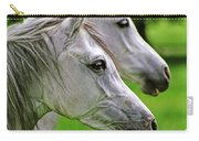 Two White Arabian Mares Carry-all Pouch