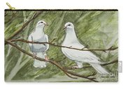 Two White Doves Carry-all Pouch