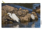Two White Herons And A Coot Carry-all Pouch