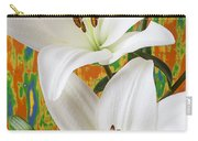 Two White Lilies Carry-all Pouch