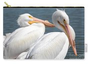 Two White Pelicans Carry-all Pouch