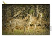 Two White Tailed Deer Carry-all Pouch