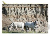 Two Wild White Stallions Carry-all Pouch by Sabrina L Ryan