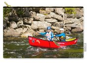 Two Women Paddling A Whitewater Canoe Carry-all Pouch