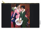 Two Women With A Washbasin Carry-all Pouch
