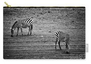 Two Zebras Eating. Tanzania Carry-all Pouch
