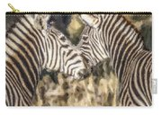 Two Zebras Equus Quagga Nuzzlling Carry-all Pouch