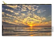 Calm Seas And A Tybee Island Sunrise Carry-all Pouch