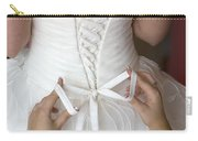 Tying The Bow On A Wedding Dress Carry-all Pouch