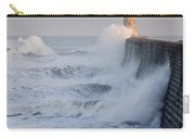 Tynemouth North Pier With Waves Carry-all Pouch