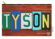 Tyson License Plate Name Sign Fun Kid Room Decor Carry-all Pouch