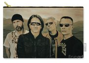 U2 Silver And Gold Carry-all Pouch