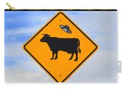 Ufo Cattle Crossing Sign In New Mexico Carry-all Pouch