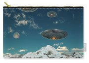 Ufos Flying Over A Mountain Range Carry-all Pouch