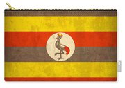 Uganda Flag Vintage Distressed Finish Carry-all Pouch