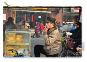 Uighur Street Side Bread Vendor Smokes Shanghai China Carry-all Pouch