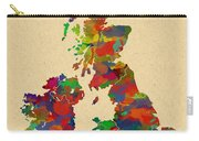 Uk Watercolor Map Carry-all Pouch