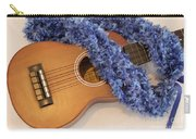 Ukulele And Blue Ribbon Lei Carry-all Pouch