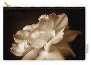 Umber Rose Floral Petals Carry-all Pouch