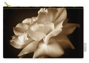 Umber Rose Floral Petals Carry-all Pouch by Jennie Marie Schell