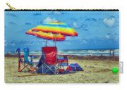 Umbrellas At The Beach Carry-all Pouch