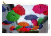 Umbrellas In The Mist Carry-all Pouch