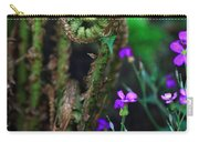 Uncurling Fern And Flower Carry-all Pouch